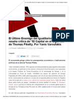 """El Último Enemigo Del Igualitarismo_ Una Reseña Crítica de """"El Capital en El Siglo XXI"""" de Thomas Piketty"""