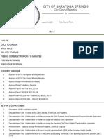 Saratoga Springs Agenda 6-21