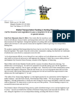 For Immediate Release Stalled Transportation Funding2