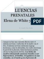 Influenza Prenatal de Elena de White