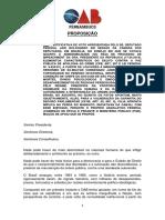 Proposição Apoio Oab Rj Representação Conselho Ética Câmara Federal Bolsonaro Justificativa Voto Apologia 2
