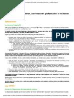 Ley 29783_ Investigación de Accidentes, Enfermedades Profesionales e Incidentes Peligrosos