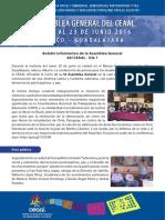 IX Asamblea General del CEAAL - Boletín Nº 1