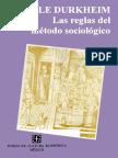 Emile Durkheim Las Reglas Del Metodo Sociologico