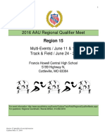 AAU Region 15 Qualifier Info