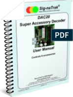 Sig-naTrak® DAC20 Accessory Decoder User Manual