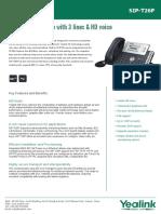 Yealink SIP-T26P Datasheet