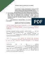 Instructivo Sobre Titulos y Libros de Acta de Asamblea y Registro de Accionistas