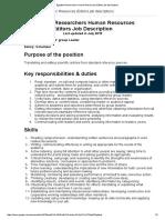 Egyptian Researchers Human Resources (Editors Job Description)