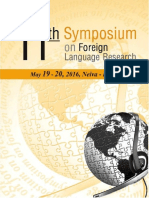 11th Symposium on Foreign Language Research