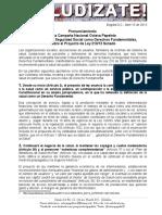 Pronunciamiento Sobre el Proyecto de Ley 210 de 2013