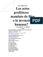 Actos Profeticos Español