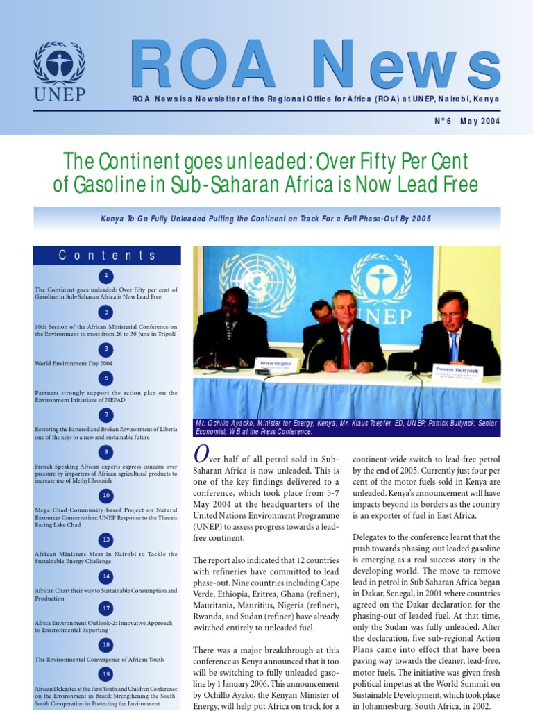 Regional Office for Africa Newsletter, May 2004 ~ United