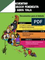 X Encontro Lesbico Feminista de Abya Yala_documentos