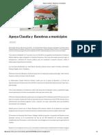 08-06-16 Apoya Claudia y  Banobras a municipios. -Critica