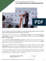 07-06-16 Alejandro Martí reconoce a Claudia Pavlovich por implementación del NSJP. -SDPNoticias
