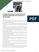 07-06-16 Entrega Gobernadora Claudia Pavlovich camiones adaptados para personas con discapacidad. -Critica