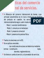 Características Del Comercio Internacional de Servicios