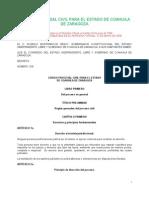 Código Procesal Civil  para el Estado de Coahuila