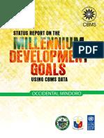Occidental Mindoro MDG Report Using CBMS Data