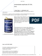 uso do sal