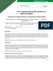 Importancia de La Comunicación Medico Pte en Medicina Familiar