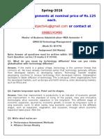 OM0018 Technology Management