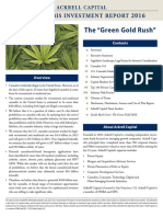 Ackrell Capital Cannabis Investment Report 2016