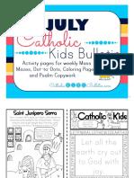 July 2016 Catholic Kids Bulletin