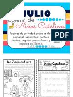 Julio 2016 Boletín Para Niños Católicos