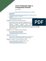 Tutorial de instalação Qgis e PostgreSQL