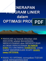 Ekonomi Teknik 3 Program Linier