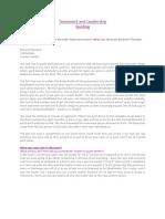 teamwork and leadership guiding pdf