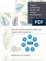 factors influencing health and hd