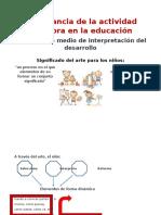 Importancia de La Actividad Creadora en La Educación
