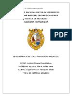 Universidad Nacional Mayor de San Marcos Cobalto en Baja Ley