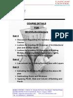 Syllabus 3dCivil Arch