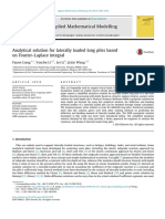 Analytical Solution for Laterally Loaded Long Piles Based on Fourier Laplace Integral 2014 Applied Mathematical Modelling