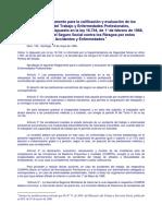 Calificación y Evaluación de Los Accidentes Del Trabajo y Enf Prof DS 109 de 1968