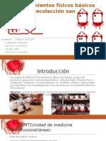 Requerimientos Físicos Básicos Para La Recolección Sanguínea