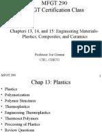 MFGT290 Plastics Composites Ceramics