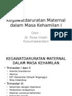 Kegawatdaruratan Maternal Dalam Masa Kehamilan I