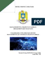 Referat Colaborarea Civil-militară Pentru Managementul Şi Controlul Spaţiului Aerian