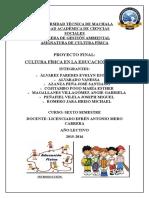 Cultura Fisica Proyecto Final1