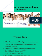 3 disparities overview mdgs and reduce