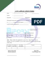 Leave Application Form Rev 01