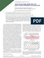 2009 Xu J Et Al (APL) Reduction in Efficiency Droop in Polarization Matched GaInN GaInN LEDs