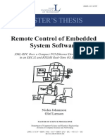 Remote Control of Embedded