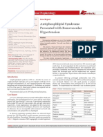 Antiphosphlipid Syndrome Presented with Renovascular Hypertension