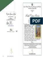 2016 - 2-3 July-2AP-2MATT-Vespers - Calling of the Apostles